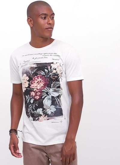 Camiseta Linho Floral