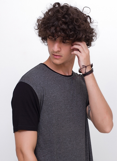 Camiseta Alongada Mangas Black
