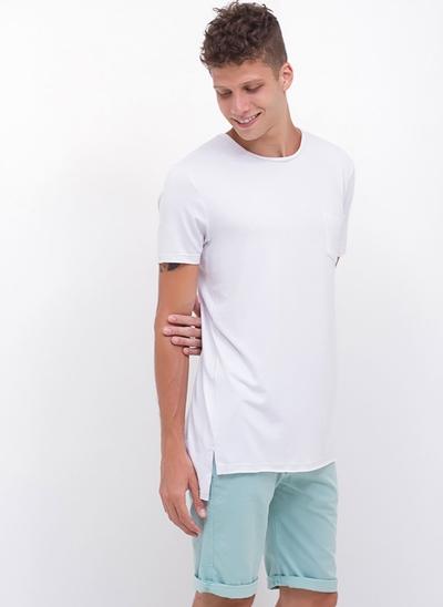 Camiseta Flamê Alongada Costas com Bolso