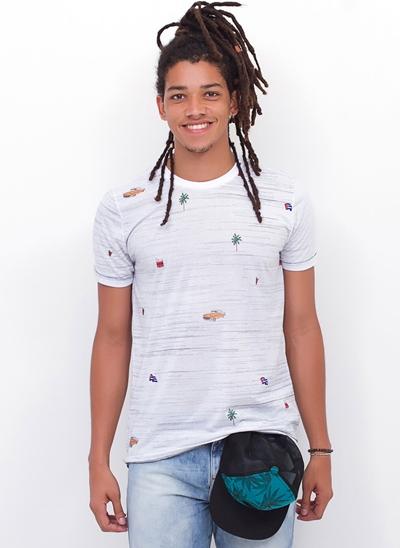 Camiseta Estampada Cuba