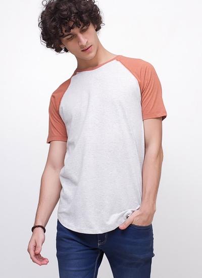 Camiseta Bicolor Manga Raglan