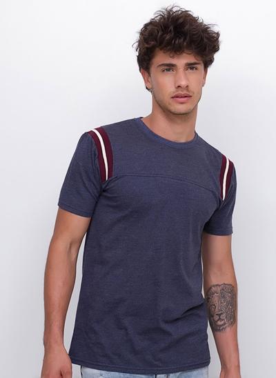 Camiseta Listras Laterais em Ribana