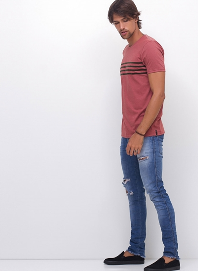 Camiseta Rose Listras
