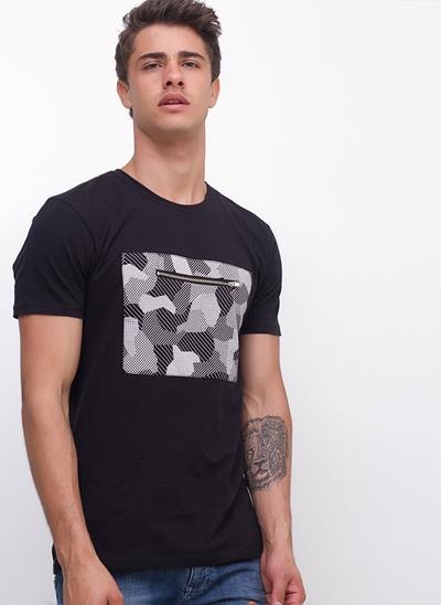 Camiseta com Zíper