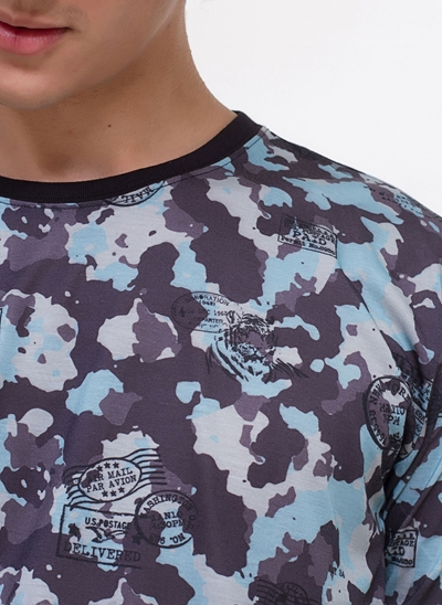 Camiseta Camuflada Naval
