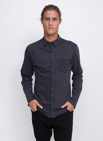 Camisa Regular com Bolso