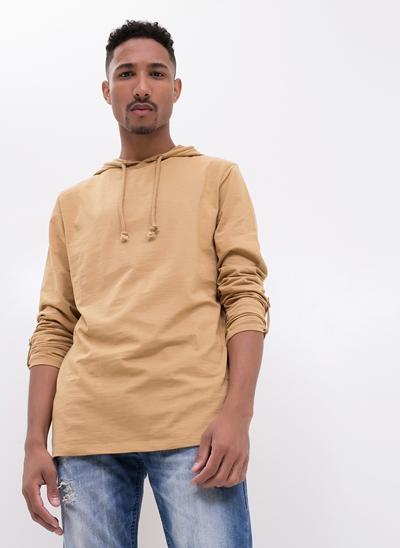 Camiseta Básica com Capuz