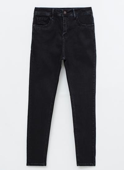 Calça Skinny Cintura Alta em Sarja